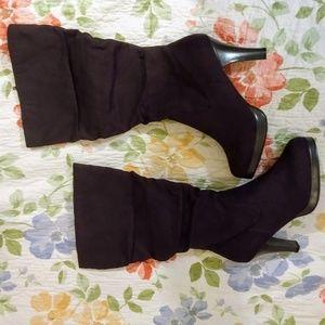 torrid Shoes - Torrid Black Suede Knee-High Boots